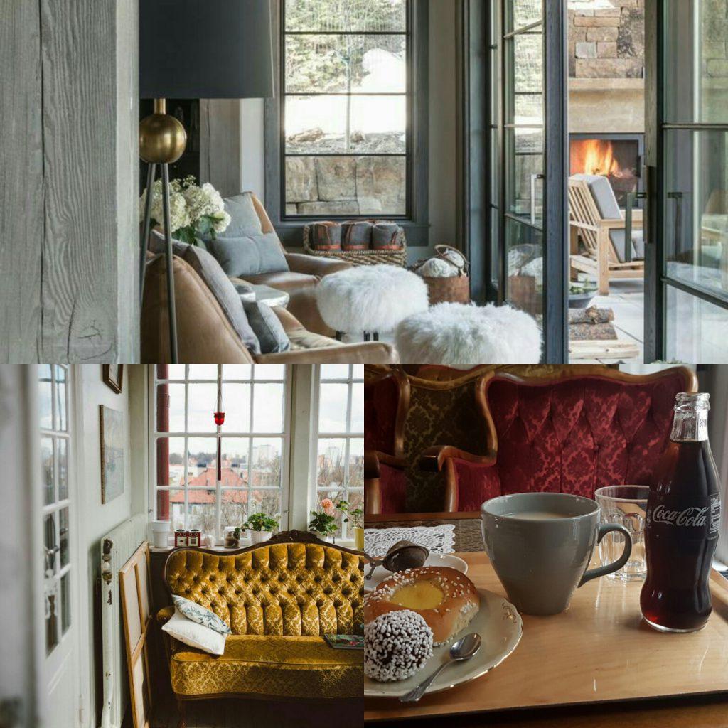 Detta är tre ställe där jag gärna skulle sitta och planera vår jul.